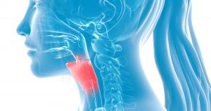 The larynx position